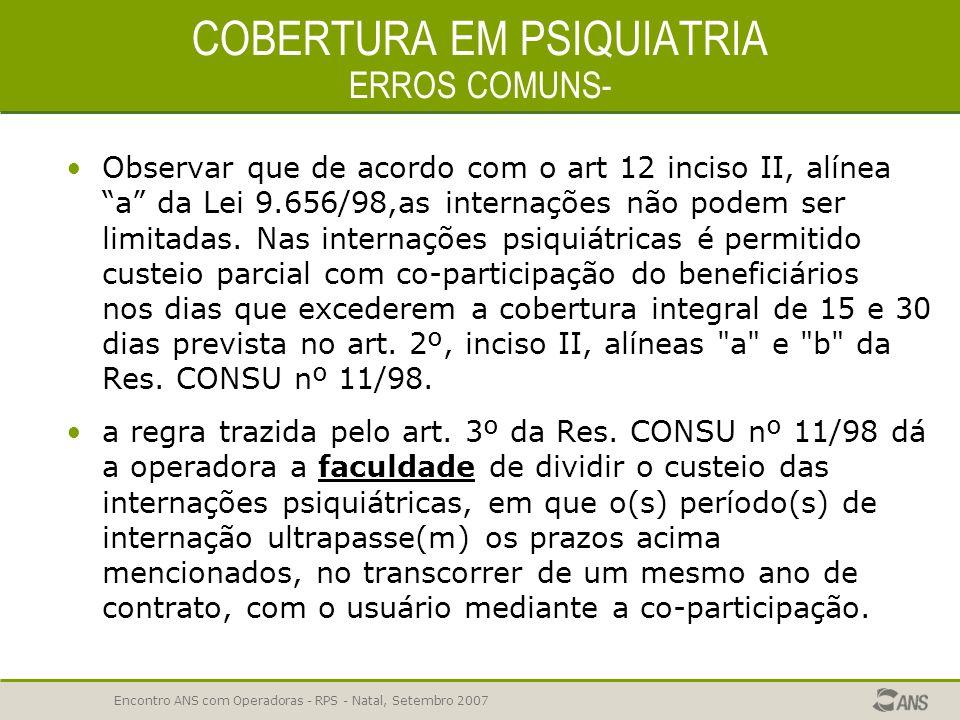 COBERTURA EM PSIQUIATRIA ERROS COMUNS-