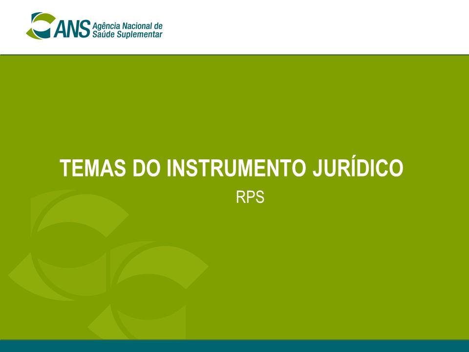 TEMAS DO INSTRUMENTO JURÍDICO