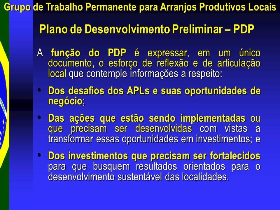 Plano de Desenvolvimento Preliminar – PDP
