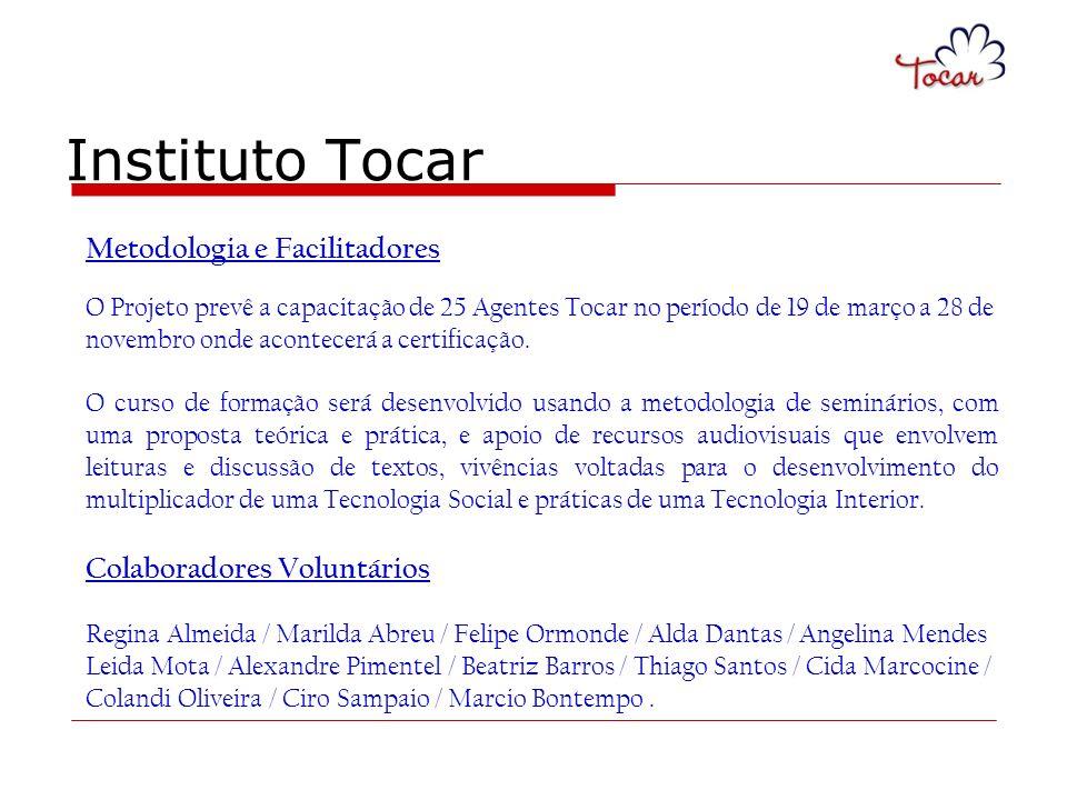 Instituto Tocar Metodologia e Facilitadores Colaboradores Voluntários