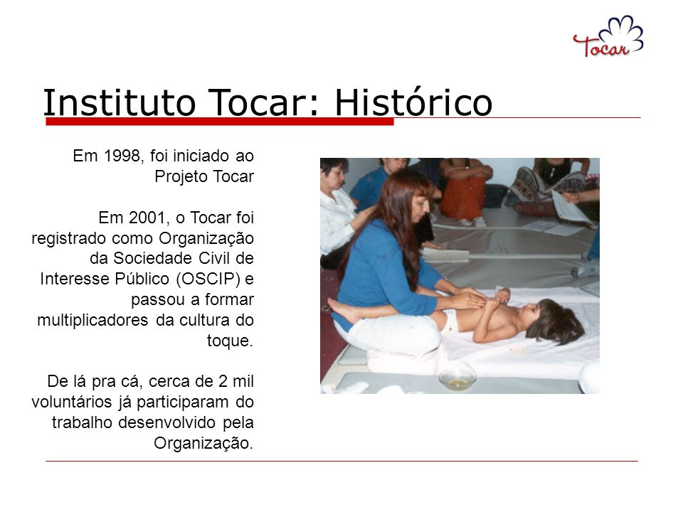 Instituto Tocar: Histórico