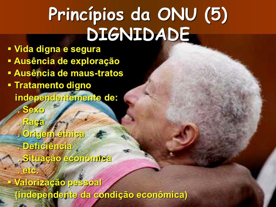 Princípios da ONU (5) DIGNIDADE