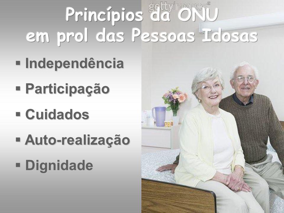 Princípios da ONU em prol das Pessoas Idosas