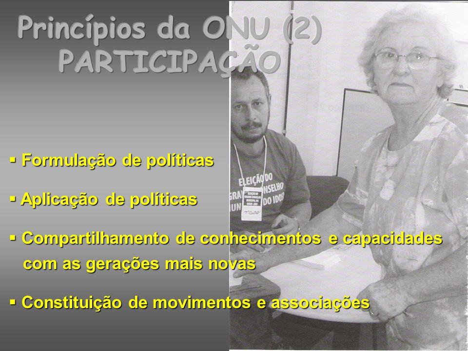 Princípios da ONU (2) PARTICIPAÇÃO