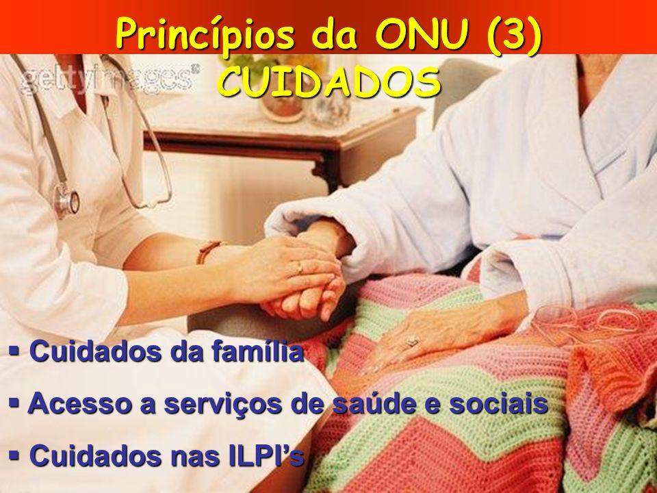 Princípios da ONU (3) CUIDADOS