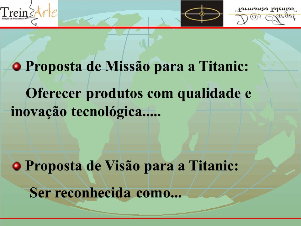 Proposta de Missão para a Titanic: