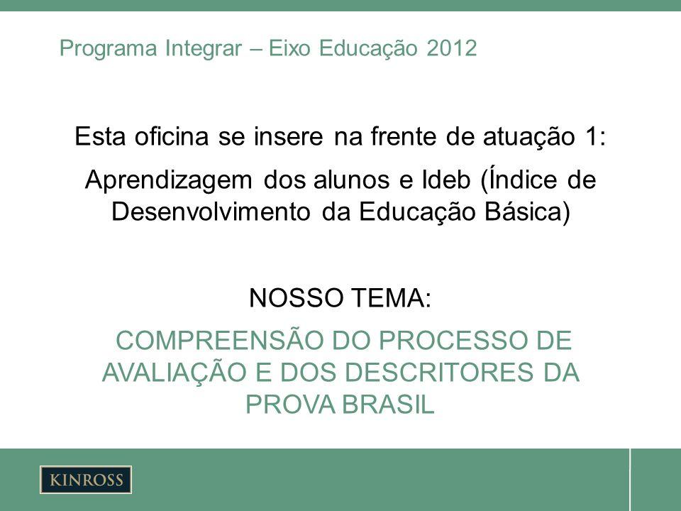 Programa Integrar – Eixo Educação 2012