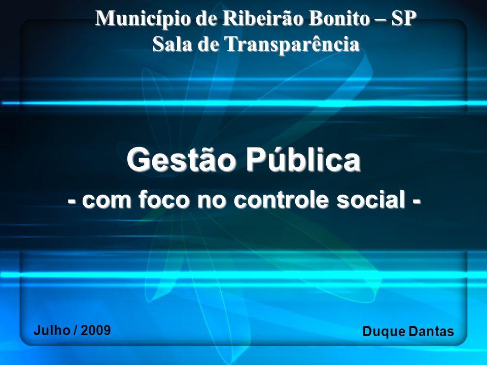 Gestão Pública - com foco no controle social -