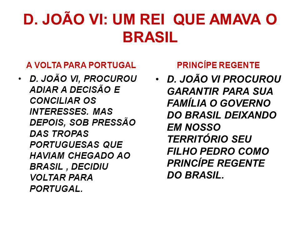 D. JOÃO VI: UM REI QUE AMAVA O BRASIL