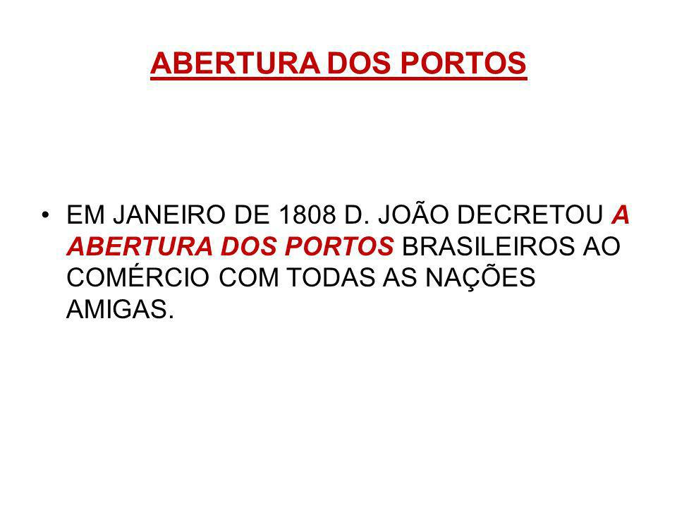 ABERTURA DOS PORTOSEM JANEIRO DE 1808 D.