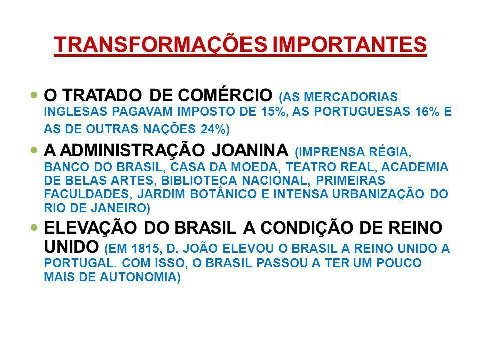 TRANSFORMAÇÕES IMPORTANTES