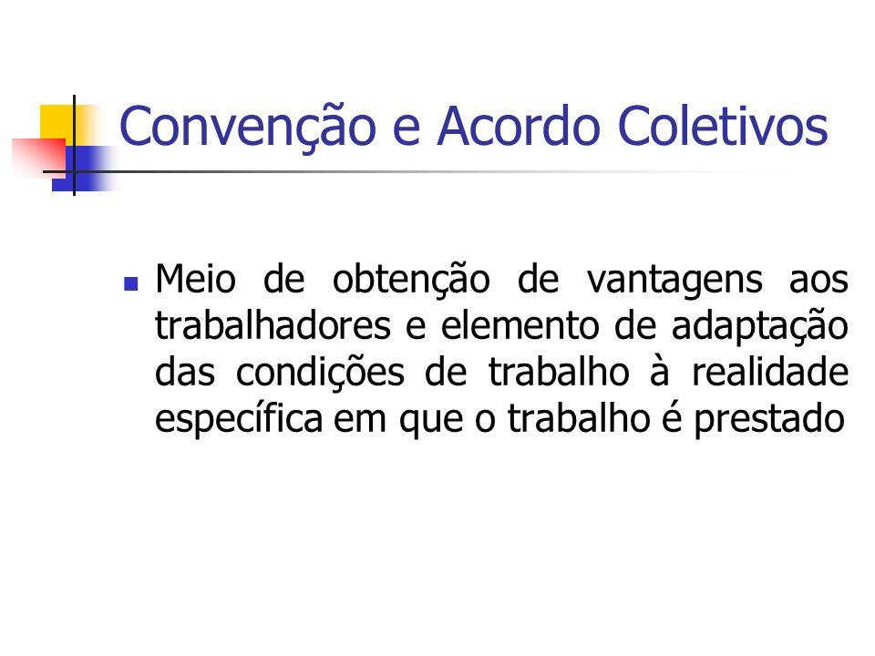 Convenção e Acordo Coletivos