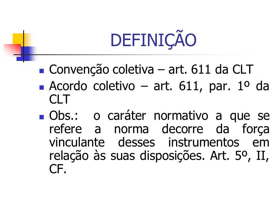 DEFINIÇÃO Convenção coletiva – art. 611 da CLT