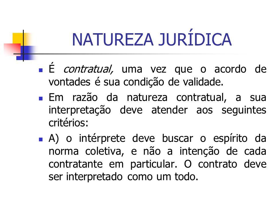 NATUREZA JURÍDICA É contratual, uma vez que o acordo de vontades é sua condição de validade.