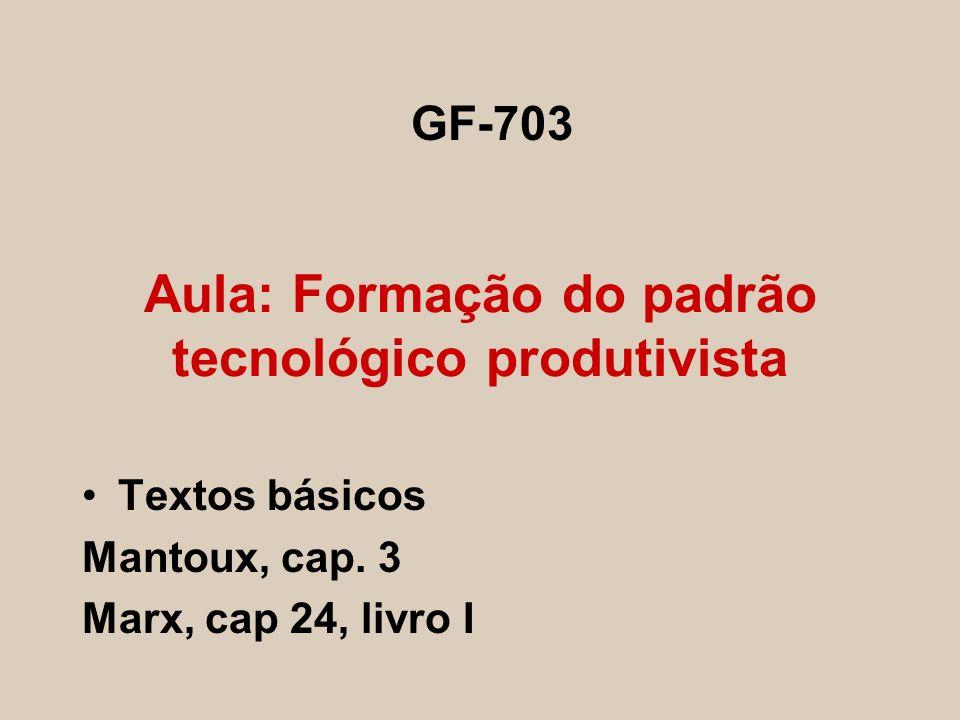 Aula: Formação do padrão tecnológico produtivista