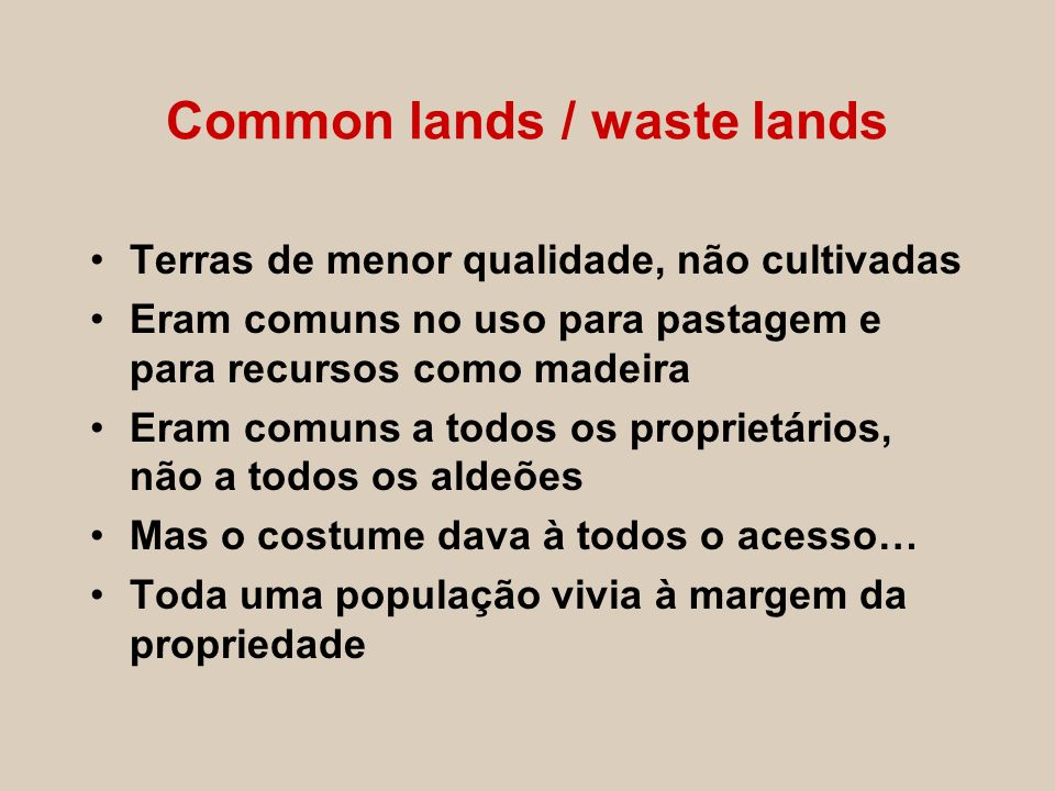 Common lands / waste lands