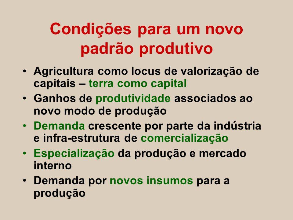 Condições para um novo padrão produtivo