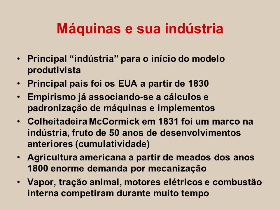 Máquinas e sua indústria