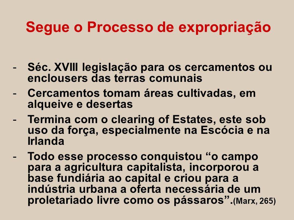 Segue o Processo de expropriação