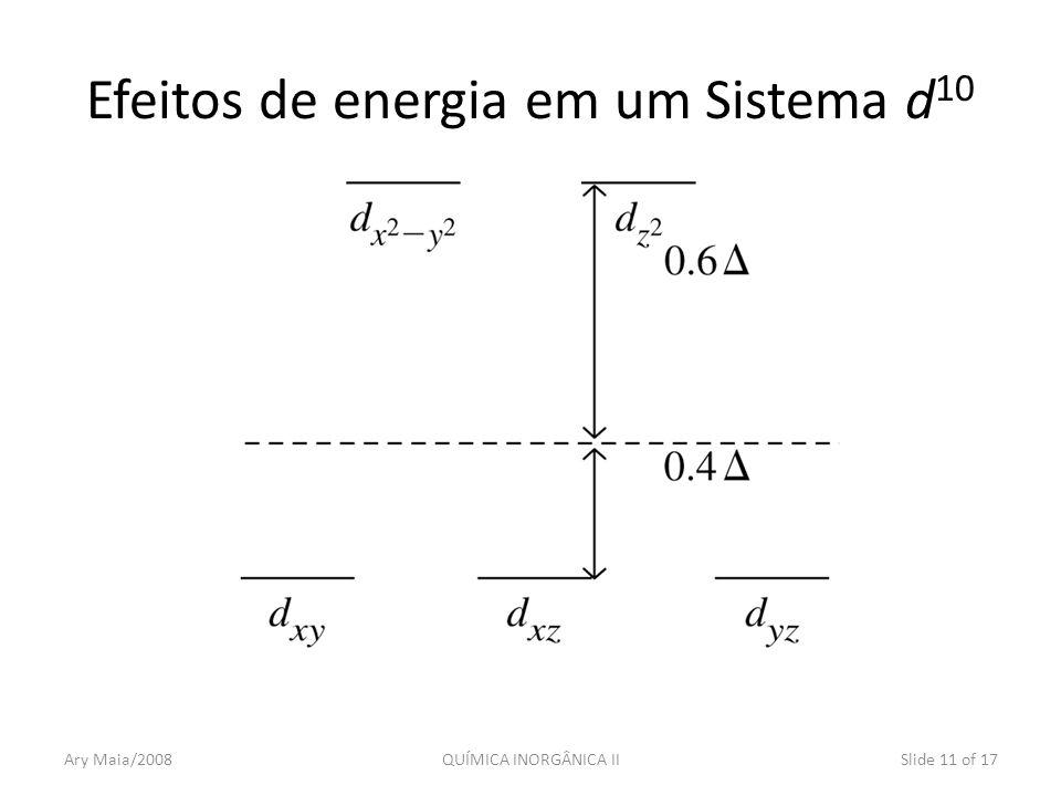 Efeitos de energia em um Sistema d10