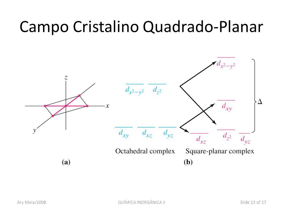 Campo Cristalino Quadrado-Planar