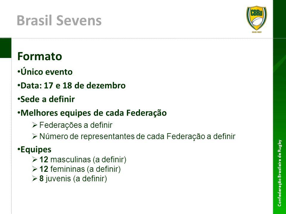 Brasil Sevens Formato Único evento Data: 17 e 18 de dezembro