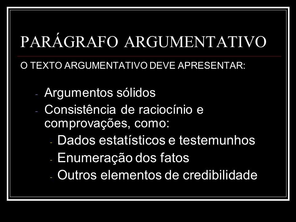 PARÁGRAFO ARGUMENTATIVO