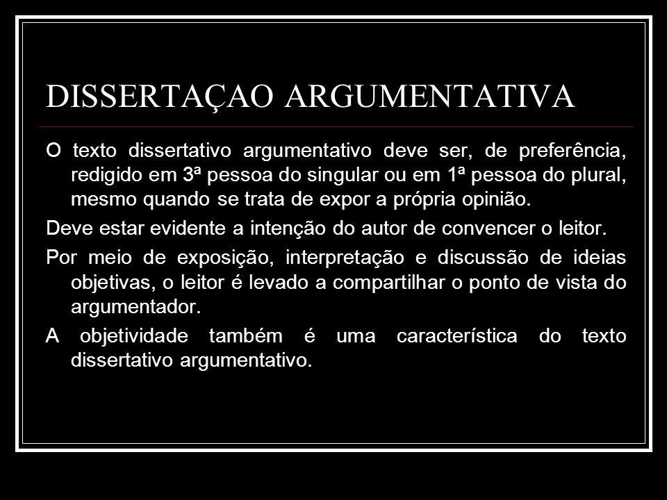 DISSERTAÇAO ARGUMENTATIVA
