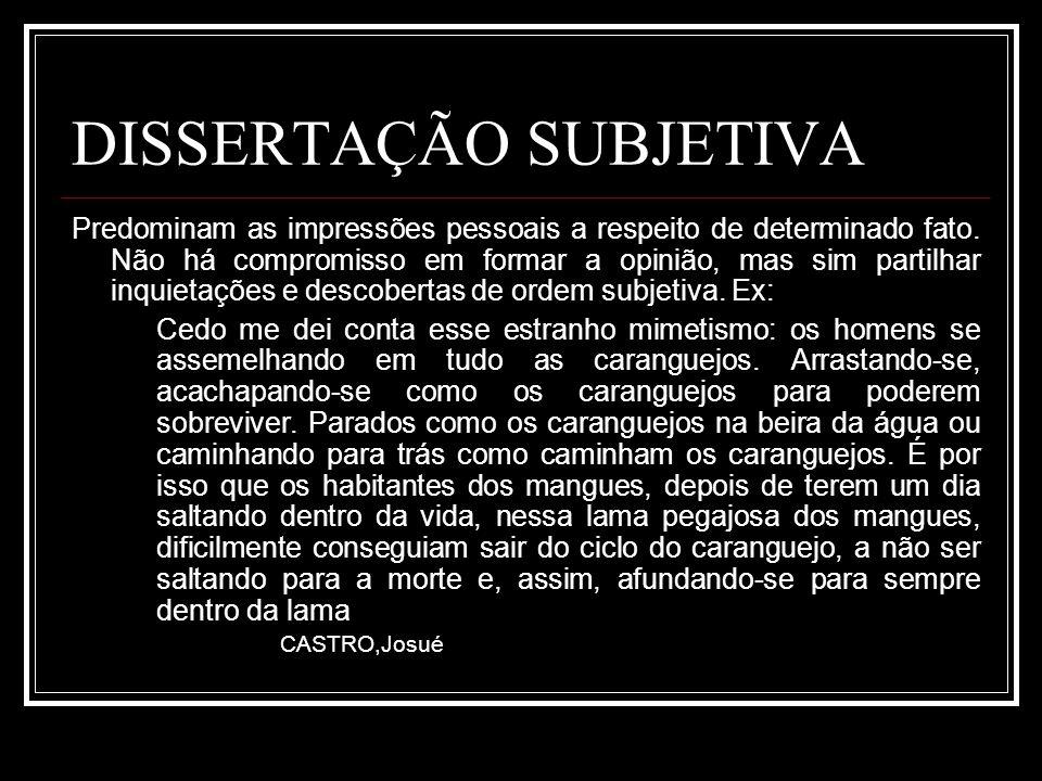 DISSERTAÇÃO SUBJETIVA