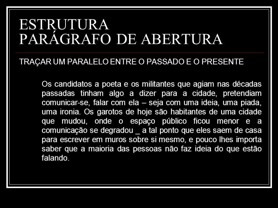 ESTRUTURA PARÁGRAFO DE ABERTURA