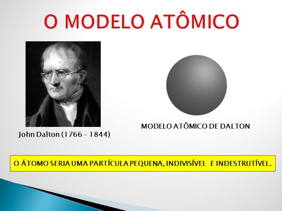 O MODELO ATÔMICO MODELO ATÔMICO DE DALTON John Dalton (1766 – 1844)