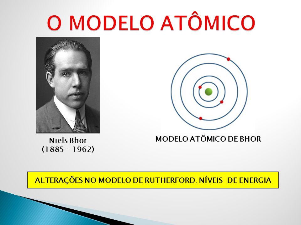 ALTERAÇÕES NO MODELO DE RUTHERFORD: NÍVEIS DE ENERGIA