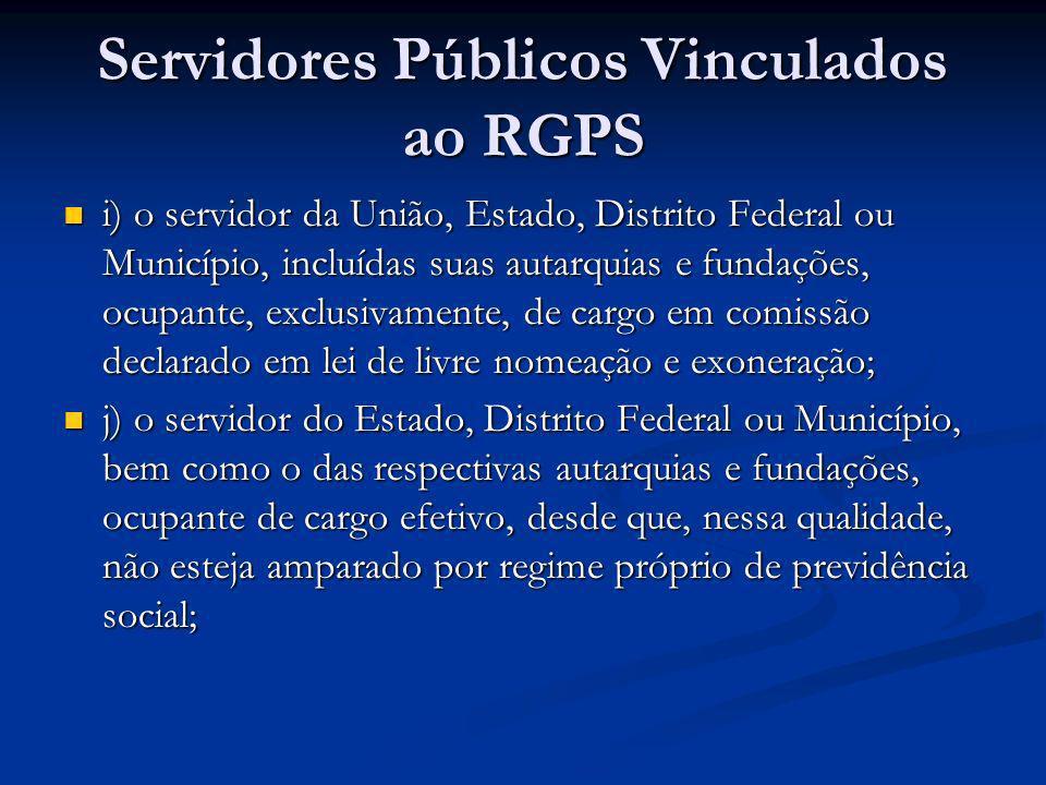 Servidores Públicos Vinculados ao RGPS