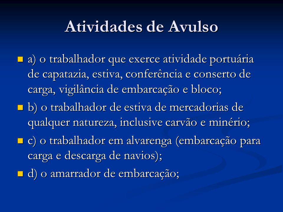 Atividades de Avulso