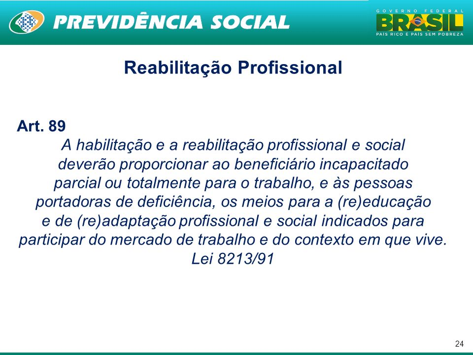Reabilitação Profissional