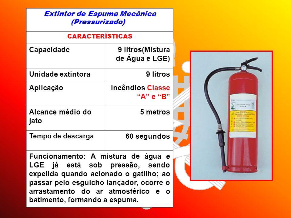 Extintor de Espuma Mecânica (Pressurizado)