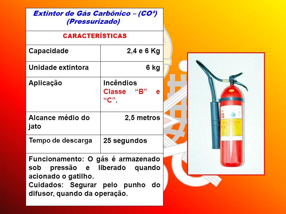 Extintor de Gás Carbônico – (CO²) (Pressurizado)
