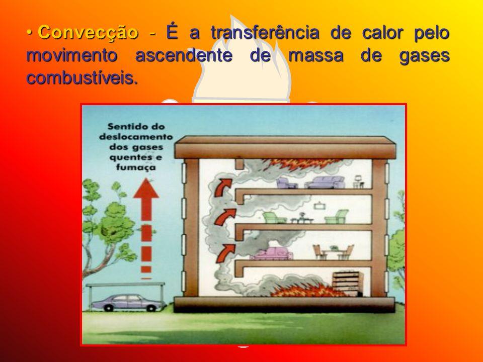 Convecção - É a transferência de calor pelo movimento ascendente de massa de gases combustíveis.