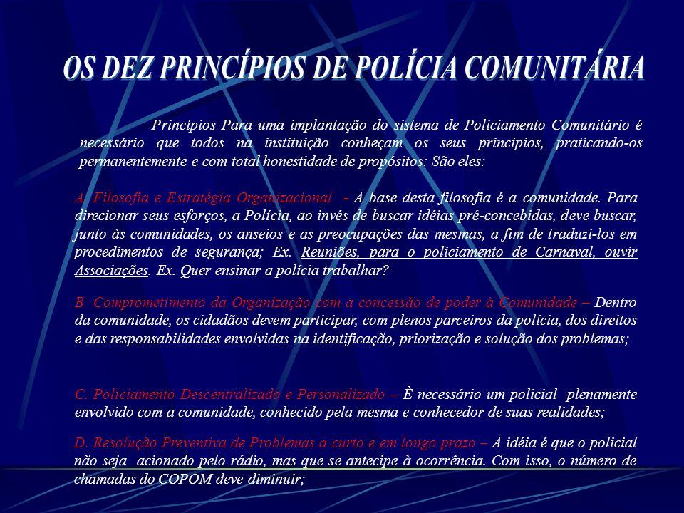 OS DEZ PRINCÍPIOS DE POLÍCIA COMUNITÁRIA