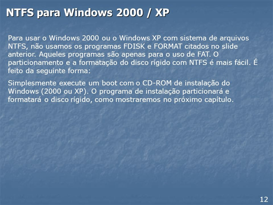 NTFS para Windows 2000 / XP