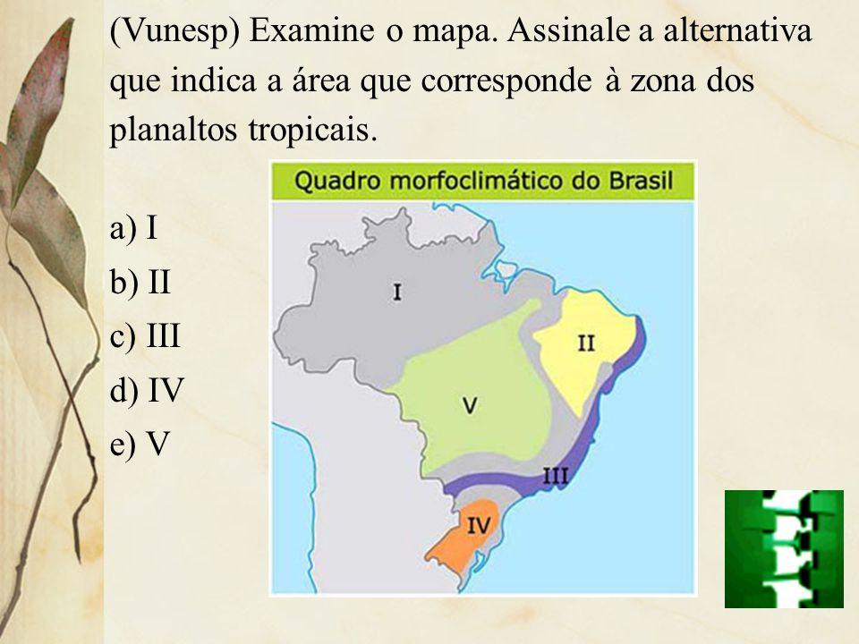 (Vunesp) Examine o mapa