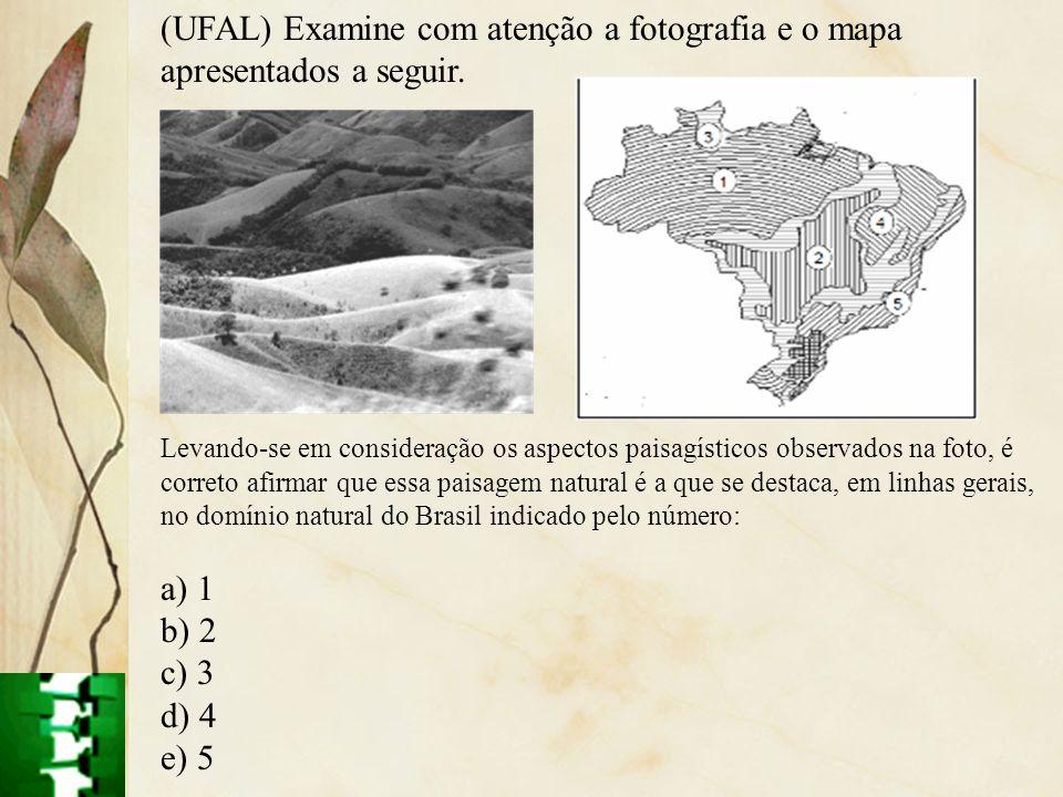 (UFAL) Examine com atenção a fotografia e o mapa apresentados a seguir.