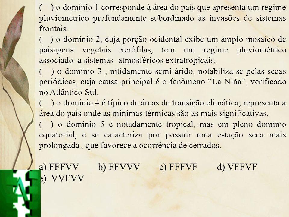 a) FFFVV b) FFVVV c) FFFVF d) VFFVF e) VVFVV