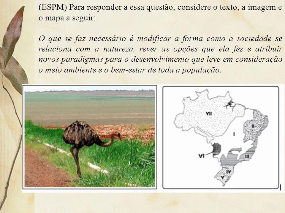 (ESPM) Para responder a essa questão, considere o texto, a imagem e o mapa a seguir: