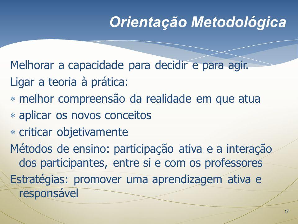 Orientação Metodológica