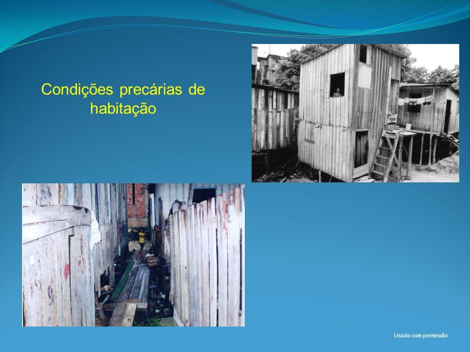 Condições precárias de habitação