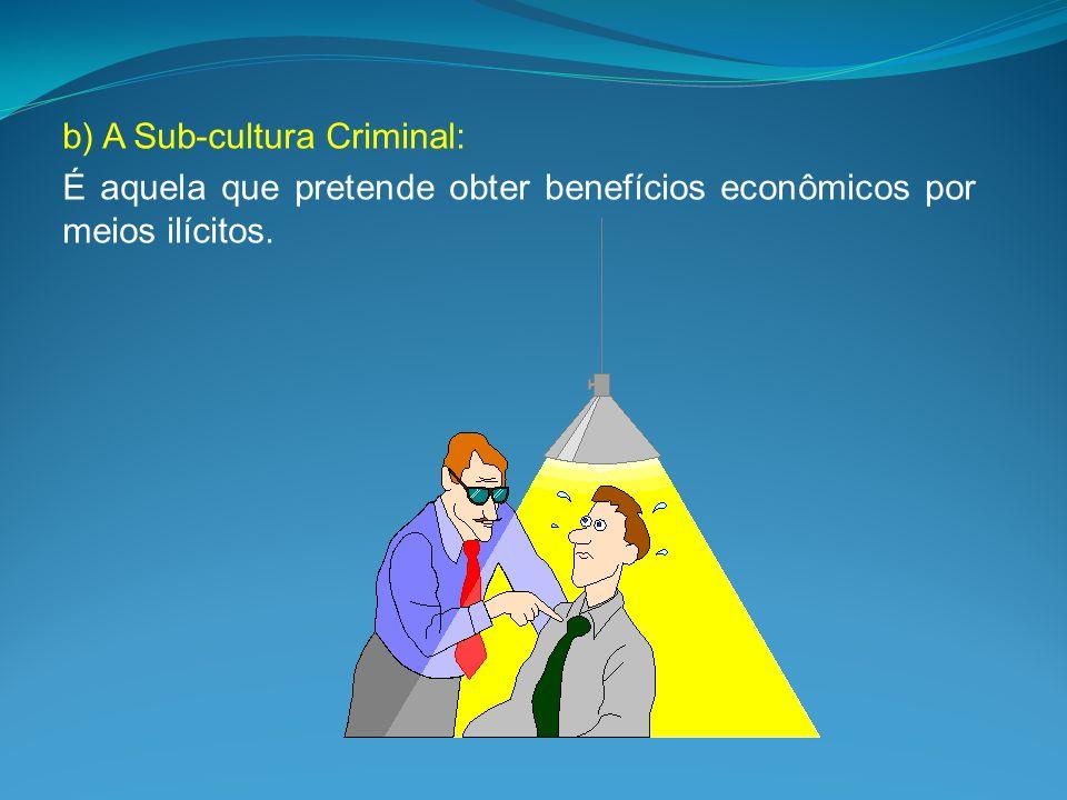 b) A Sub-cultura Criminal: