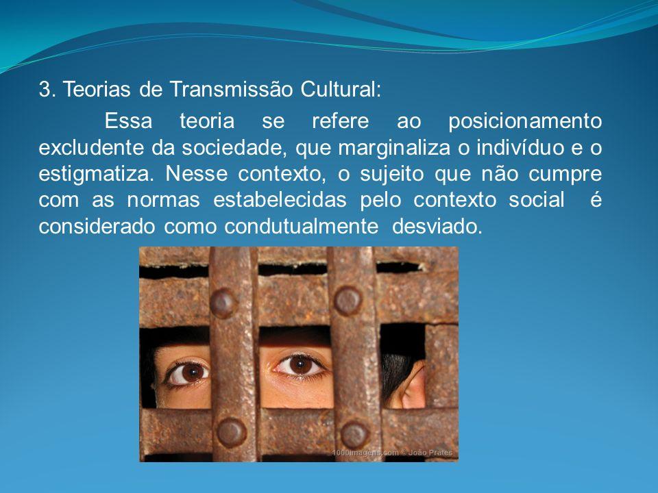 3. Teorias de Transmissão Cultural: