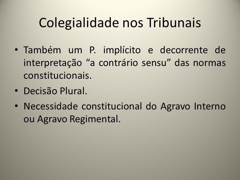 Colegialidade nos Tribunais