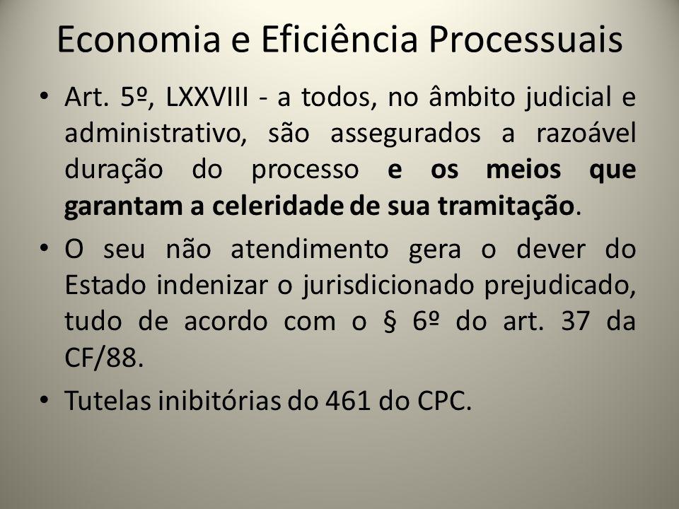 Economia e Eficiência Processuais